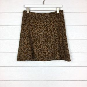 NWT The Limited Leopard Mini Skirt